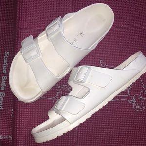 Men's All white rubber birkenstocks
